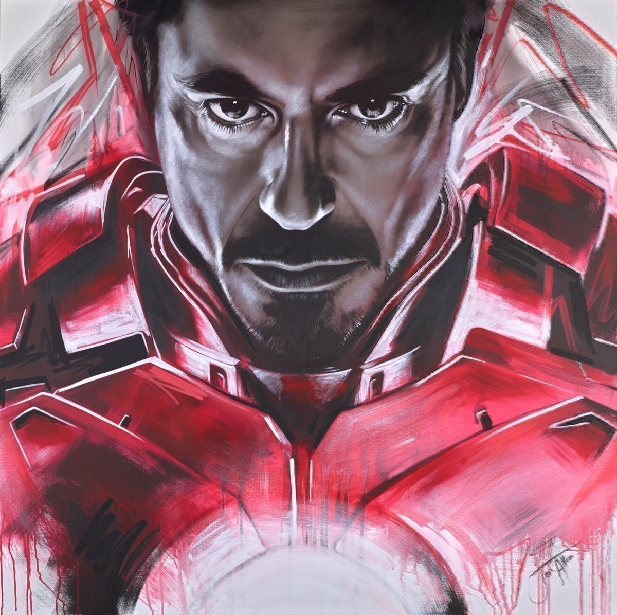 Iron Avenger by Jen Allen -  sized 48x48 inches. Available from Whitewall Galleries